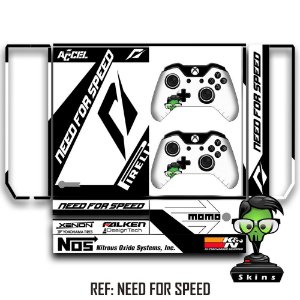 Adesivo skin xbox one fat Need for Speed