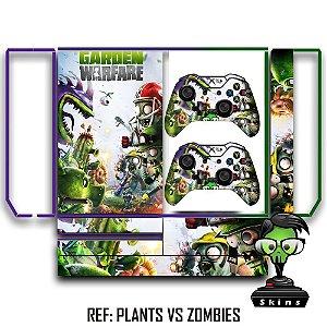 Adesivo skin xbox one fat Plants vs zombies gw