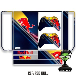 Adesivo skin xbox one fat Red Bull