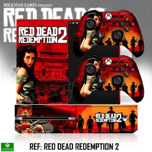 Adesivo skin xbox one fat Red Dead Redemption 2