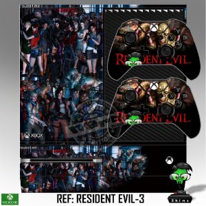 Adesivo skin xbox one fat Resident Evil