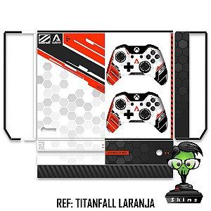 Adesivo skin xbox one fat Titanfall Laranja
