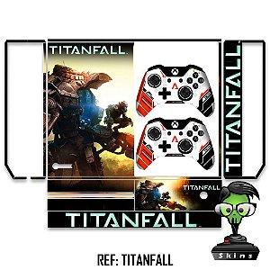Adesivo skin xbox one fat Titanfall