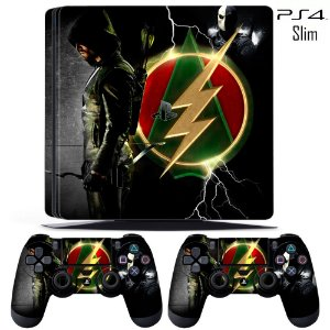 adesivo skin ps4 slim Flash and arrow