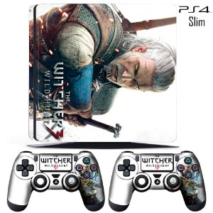 adesivo skin ps4 slim The Witcher 3 Wildlands