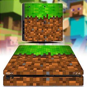 adesivo skin ps4 slim Minecraft