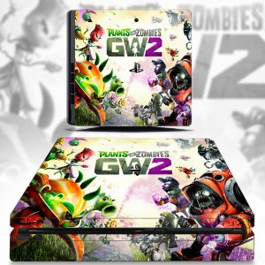 adesivo skin ps4 slim Plants vs zombies gw2