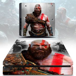 Adesivo skin ps4 slim God of War 4
