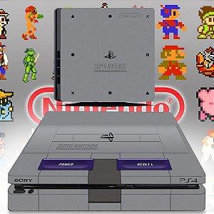 Adesivo skin ps4 slim Super Nintendo