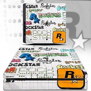Adesivo skin ps4 slim Rockstar
