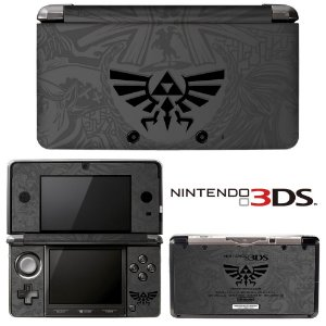 Customização skin nintendo 3ds lite Triforce grey reflex edition