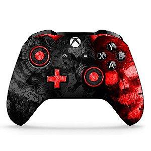 Adesivo custom controle Xbox one skin Gears 5 vermelho