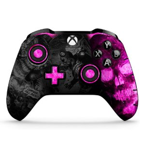 Adesivo custom controle Xbox one skin Gears 5 pink