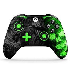 Adesivo custom controle Xbox one skin Gears 5 verde