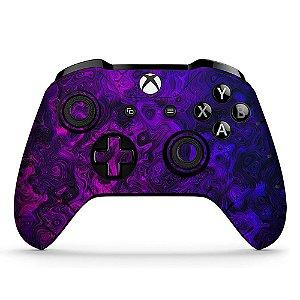 Adesivo custom controle Xbox one skin purple-vision-x4