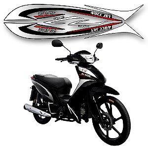 Faixa moto shineray jet 49cc preta