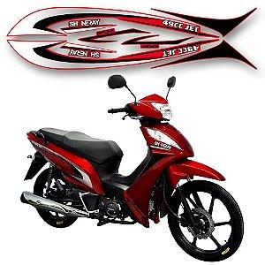 Faixa moto shineray jet 49cc vermelha