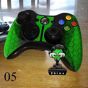 Adesivo de controle xbox 360 Blackops verde