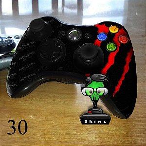Adesivo de controle xbox 360 monster energy vermelho