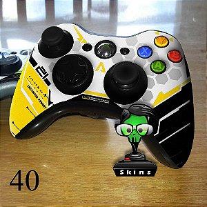 Adesivo de controle xbox 360 Titanfall amarelo