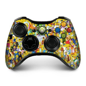 Adesivo de controle xbox 360 Simpsons personagens