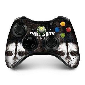Adesivo de controle xbox 360 cod ghosts skull duo