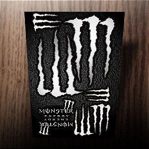 Cartela de adesivos 20x30cm monster energy cinza