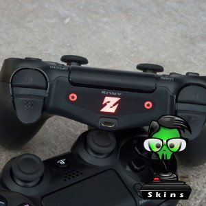 Adesivo lightbar controle ps4 Z Dragonball Z
