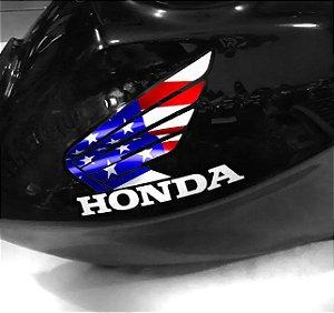 Adesivo de tanque Asa honda Bandeira dos Estados Unidos