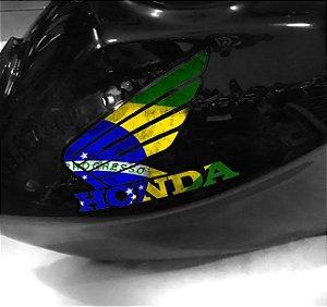 Adesivo de tanque Asa Bandeira do brasil letras recortadas