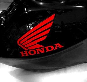 Adesivo de tanque Asa Honda vermelho letras recortadas