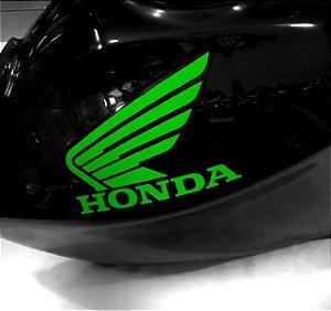 Adesivo de tanque Asa Honda verde letras recortadas