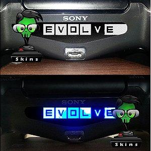adesivo lightbar controle ps4 Evolve