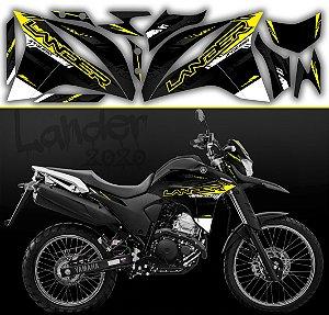 Faixa lander 2020 limited preto com amarelo