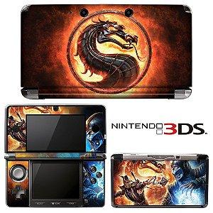adesivo skin nintendo 3ds XL Mortal Kombat Dragon