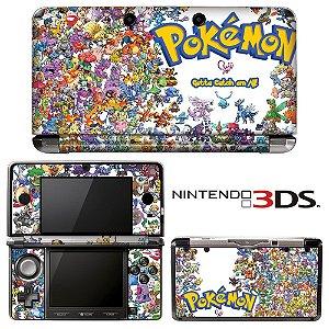 adesivo de proteção 3ds XL Pokémon texture
