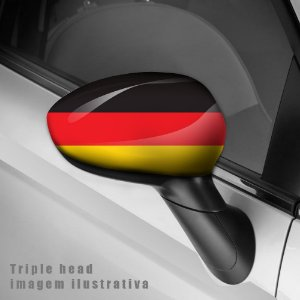 Adesivo envelopamento retrovisor  Bandeira Alemanha