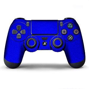 Adesivo de Controle PS4 Azul Metalizado