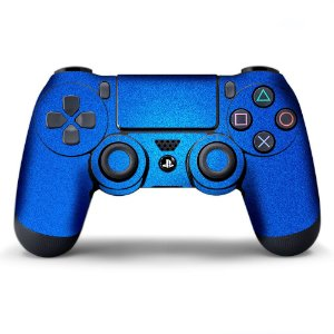 Adesivo de Controle PS4 Ciano Metalizado