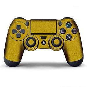 Adesivo de Controle PS4 Dourado Metalizado