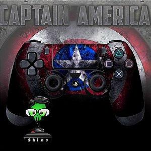Adesivo de Controle PS4 Capitão América Escudo