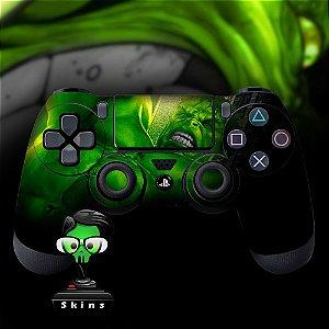 Adesivo de Controle PS4 Hulk Mod 2