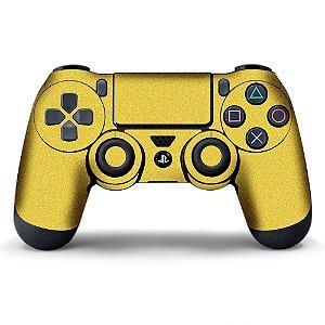 Adesivo de Controle PS4 Palha Metalizado