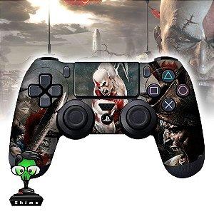 Adesivo de Controle PS4 God of War Kratos Mod 03