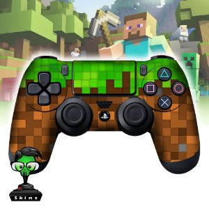 Adesivo de Controle PS4 Minecraft Mod 01