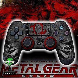 Adesivo de Controle PS4 Metal Gear Mod 03