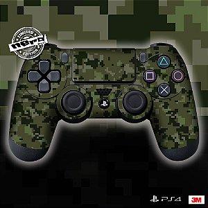 Adesivo de Controle PS4 Camuflado Verde