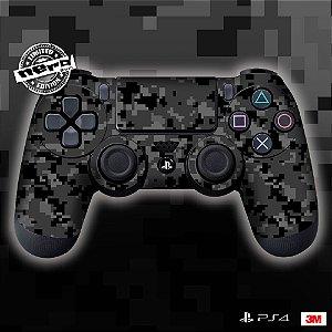 Adesivo de Controle PS4 Camuflado Preto