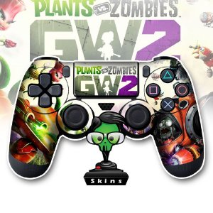 Adesivo de Controle PS4 Plants VS Zombies Mod 02