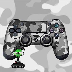 Adesivo de Controle PS4 Camuflado Cinza Mod 02